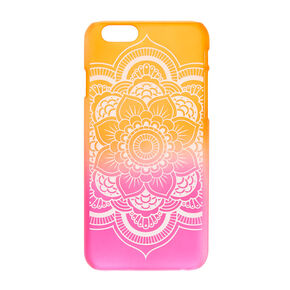 Frosted Ombre Mandala Phone Case,