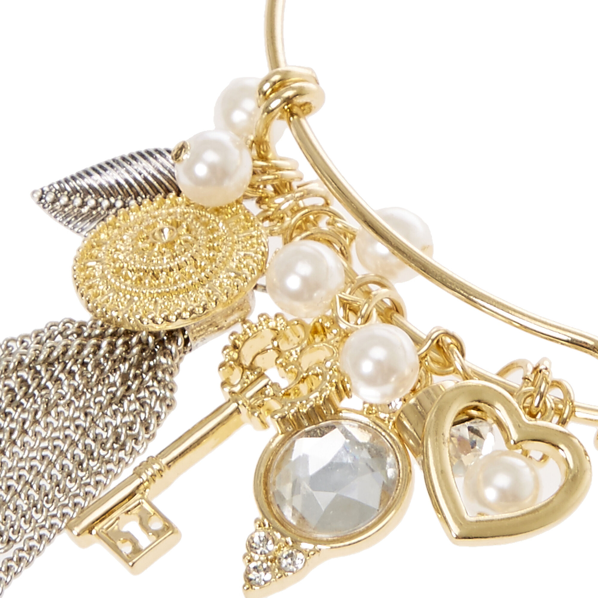 Gold Wire Charm Bracelet