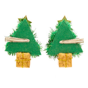 tinsel christmas tree hair clips - Christmas Tree Clips