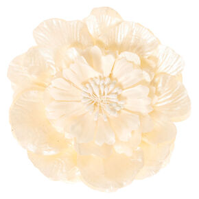 Large Cream Sparkle Flower Hair Clip,
