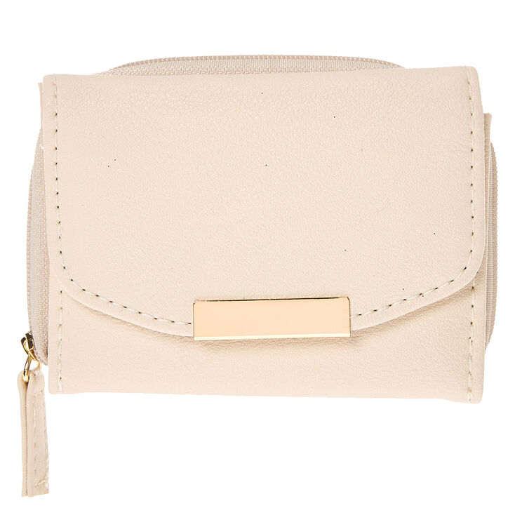Nude Faux Leather Mini Wallet at Icing in Victor, NY | Tuggl