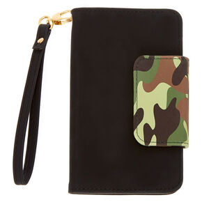 Camo & Black Cell Phone Wrislet,