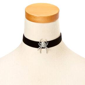 Glitter Spider Halloween Choker,
