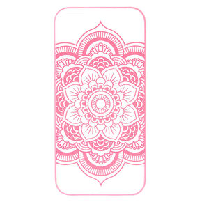 Hot Pink Frosted Mandala Phone Case,
