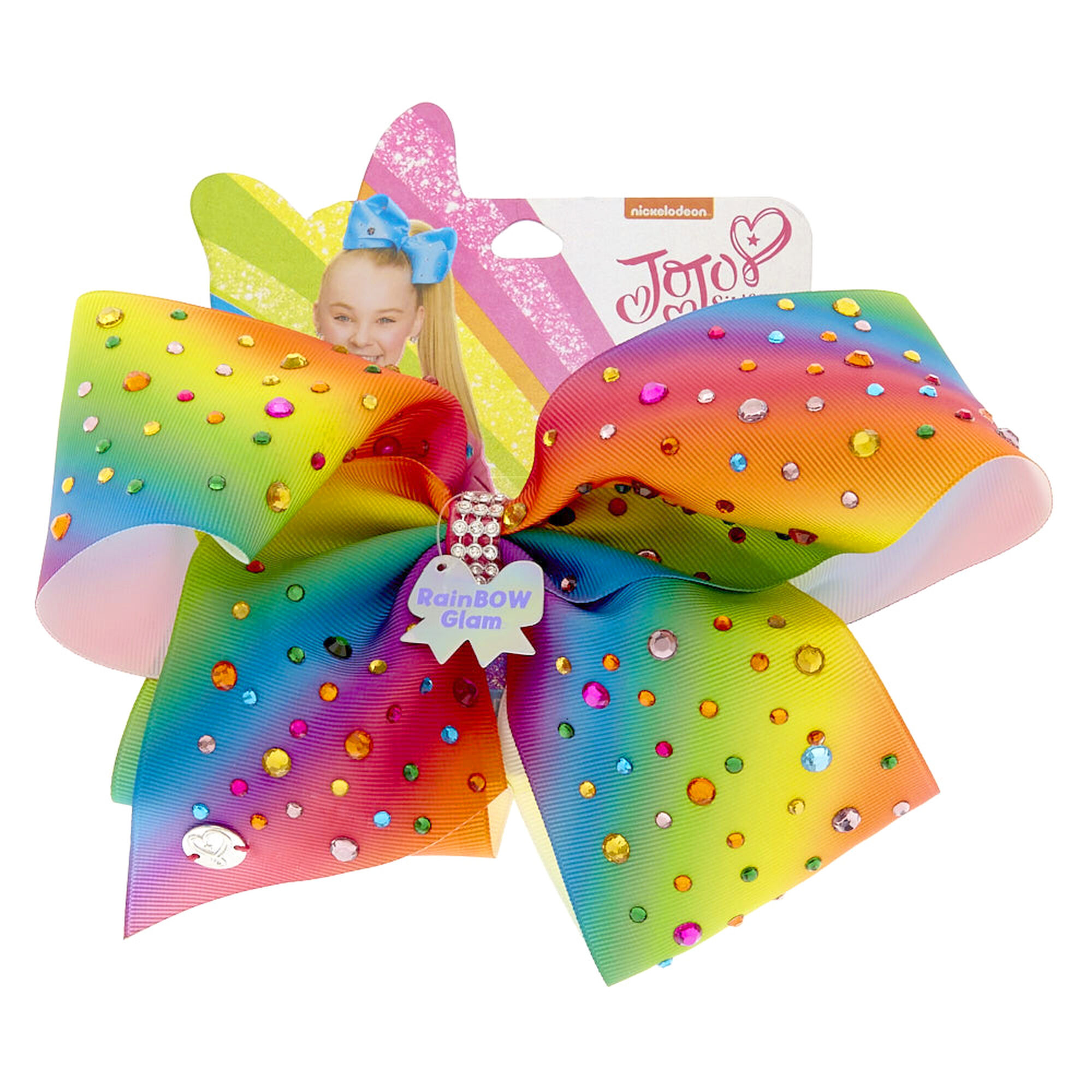 Jojo Siwa Large Rainbow Glam Signature Hair Bow Claire S Us