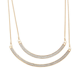 Gold and Silver Double Row Necklace,