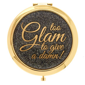 Gold Glam Duo-Image Compact Mirror,