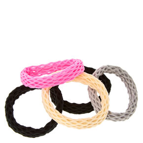 Neutral Pink Fishnet Hair Ties,