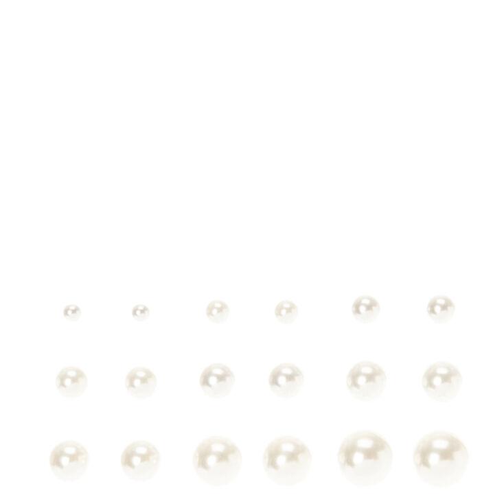 White Pearl Multi Pack Stud Earrings,