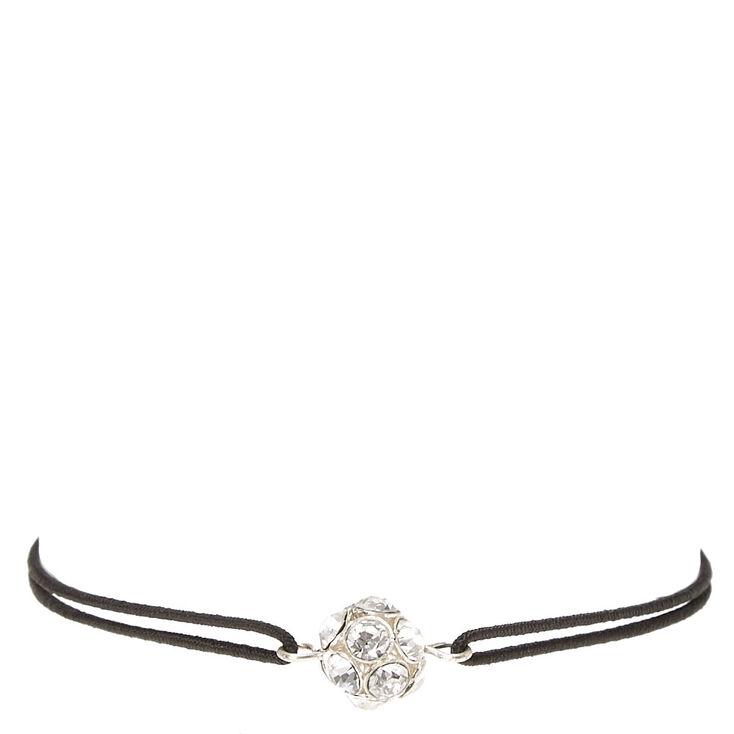 Black Stretch Bracelet with Fireball Charm,
