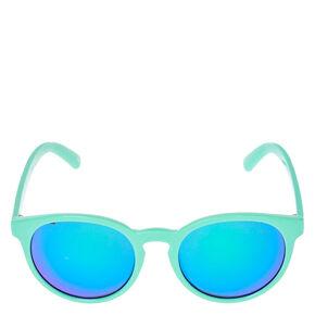 Mint Cat Eye Mirrored Sunglasses,