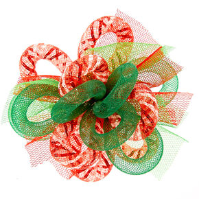 Tulle Christmas Bow Clip,