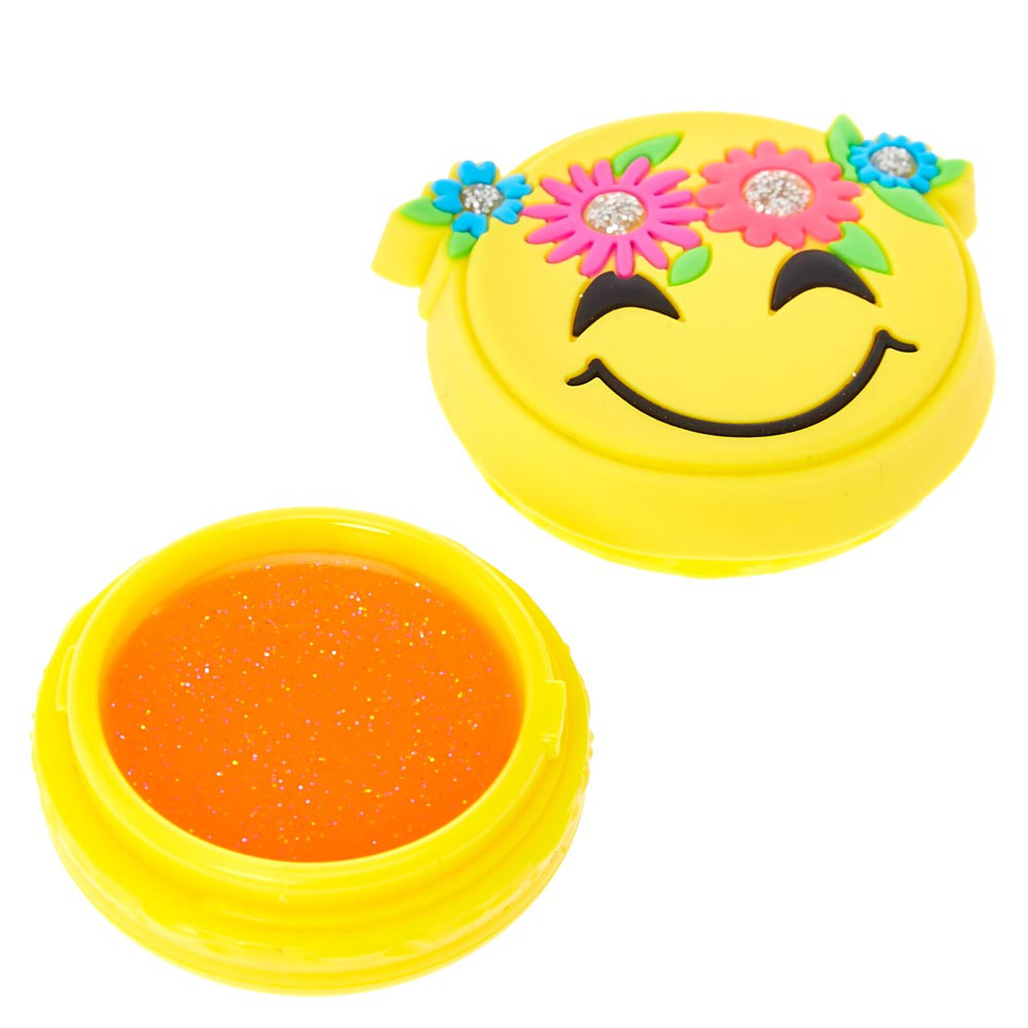 S Glitter Flower Crown Emoji Bag