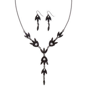 Black Vine Necklace and Earring Set,