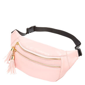 Pink Tassel Fanny Pack,