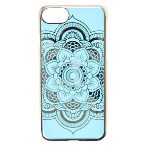 Blue Reflective Mirror Mandala Phone Case,