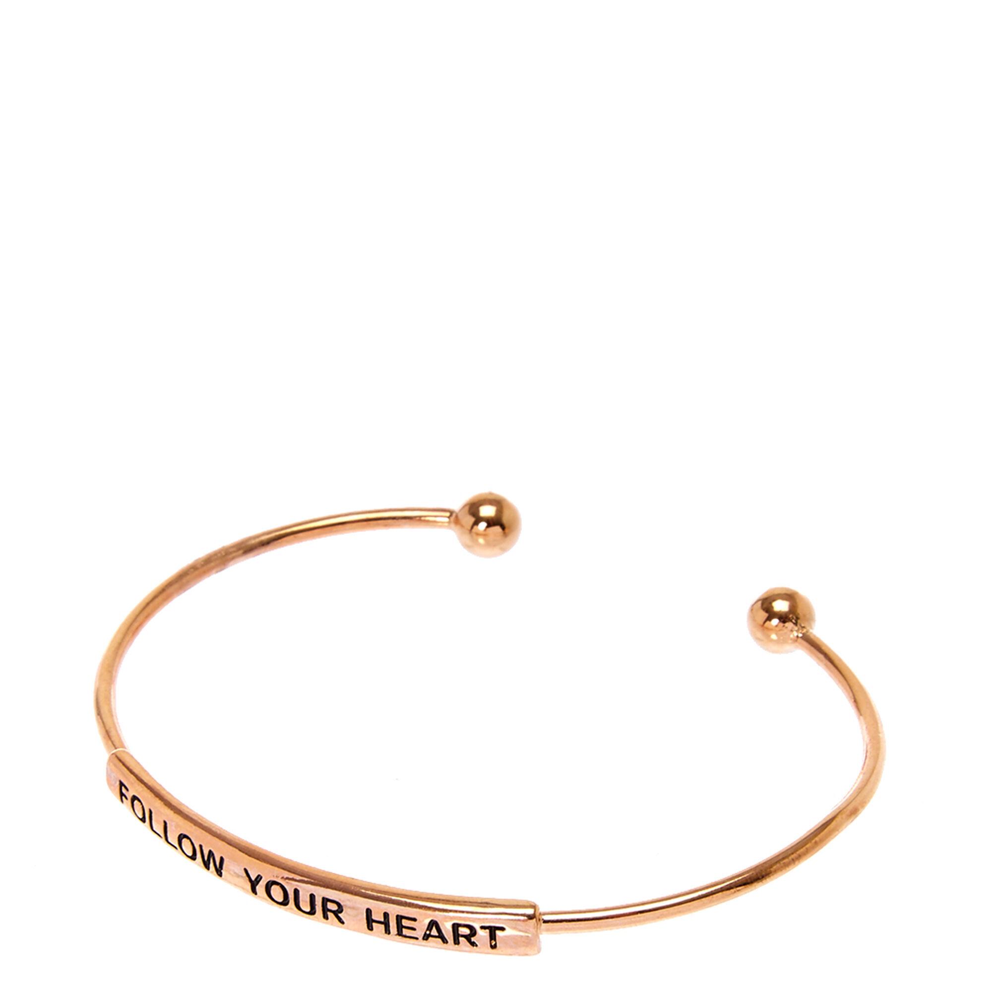 Follow Your Heart Cuff Bracelet