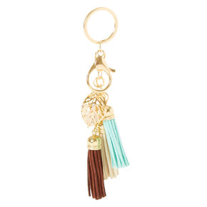 Neutral Tassel Keychain,