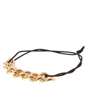 Gold Chain Double Stretch Bracelet,