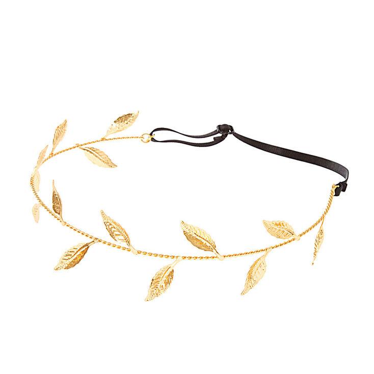 Gold Leaf Crown Headwrap,