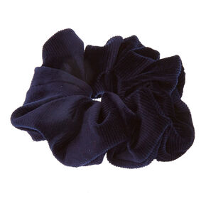 Navy Blue Velevet Oversized Scrunchie,