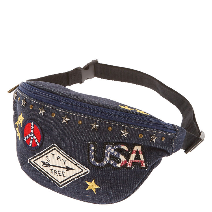 USA Stay Free Denim Fanny Pack,