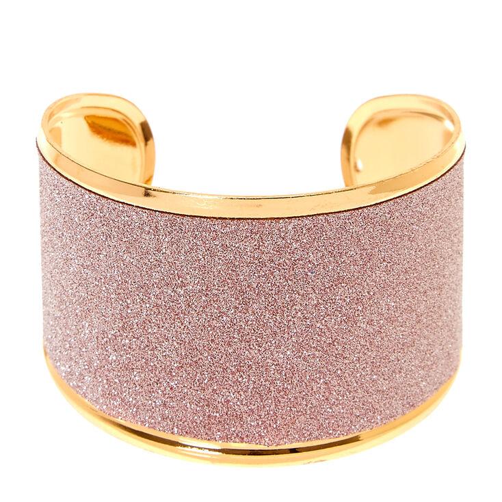 Rose Gold Glitter Tape Cuff Bracelet,