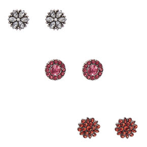 Large Flower Cluster Stud Earrings,