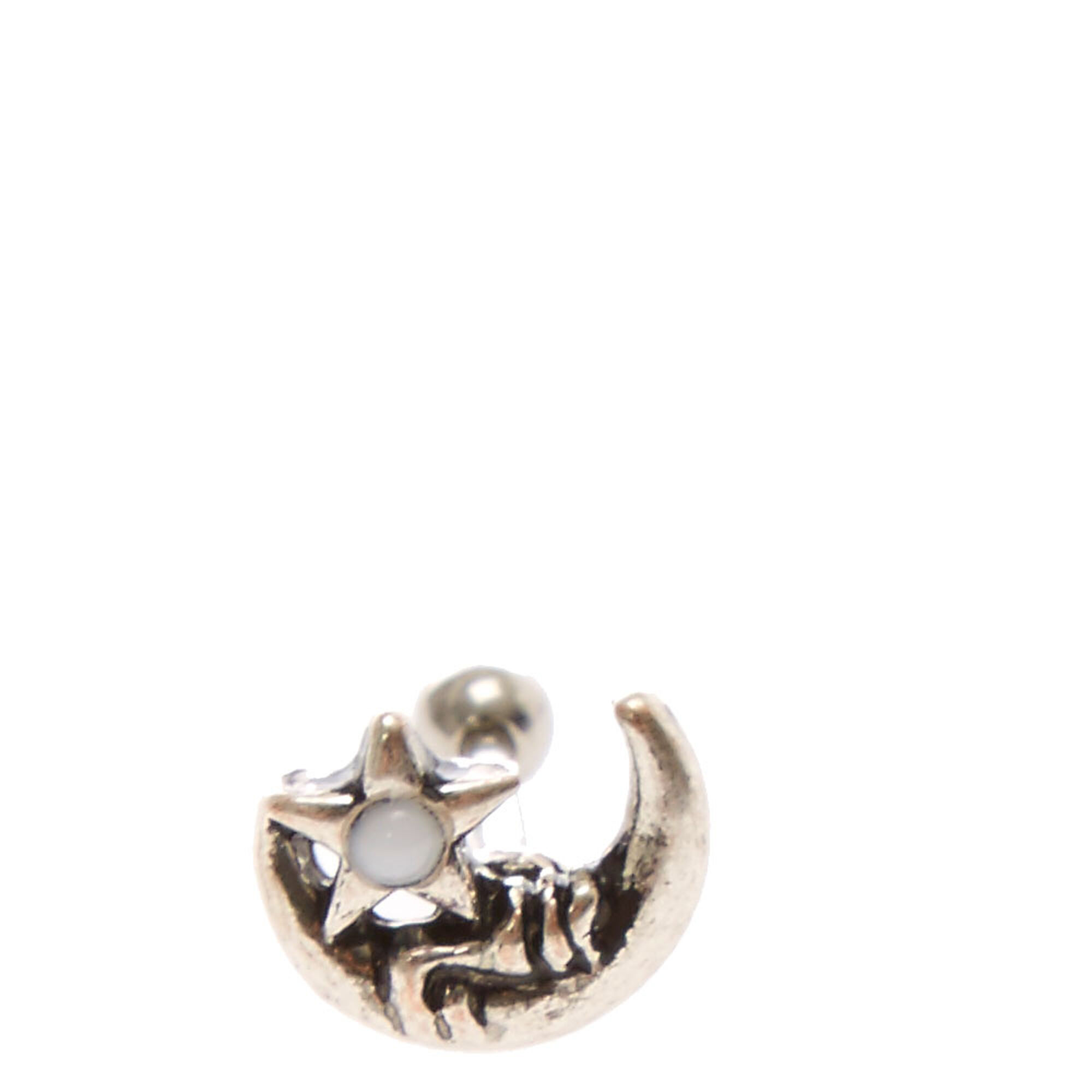Star And Moon Tragus Earring,