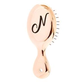 Mini Rose Gold N Initial Hair Brush,