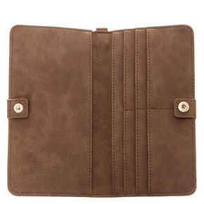 Slim Cognac Continental Wallet,