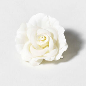 White Garden Rose Hair flower hair clips | claire's us