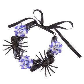 Black And Purple Spider Flower Crown,