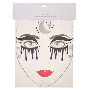 Dark Witch Halloween Face Tattoos,
