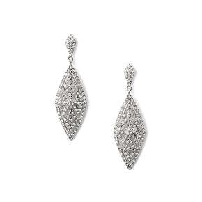 Vintage Pavé Rhinestone Diamond Drop Earrings,