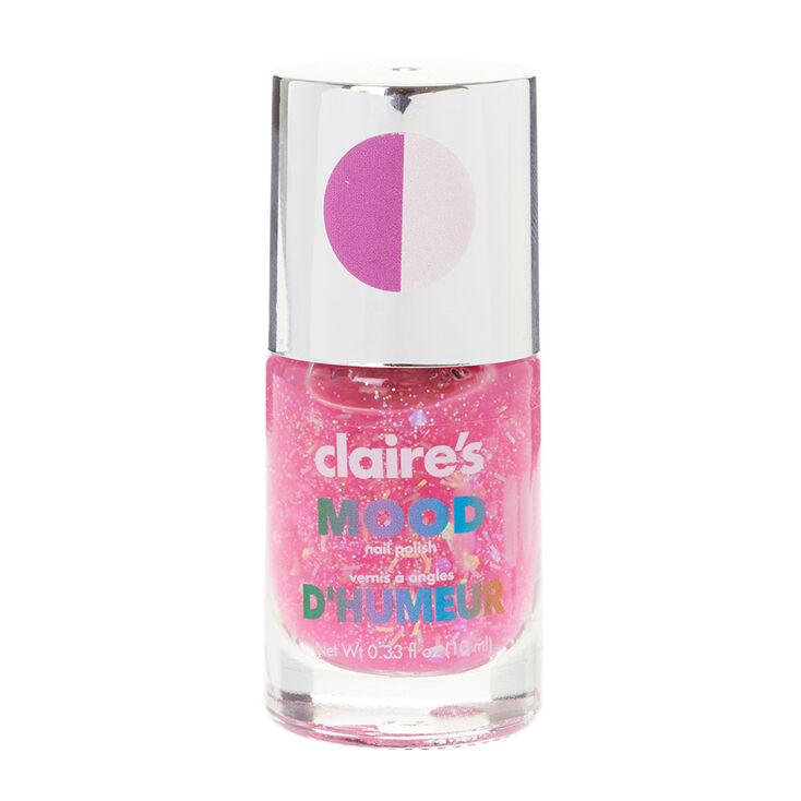Glitter Pink Mood Nail Polish Claire S Us