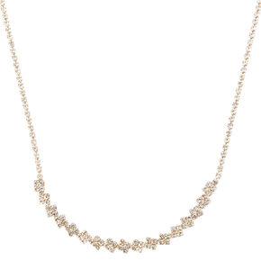 Gold Half Moon Necklace,