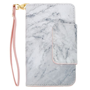 Marble and Pink Wristlet and Phone Gripper,