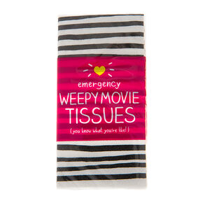 Emergency Weepy Movie Pocket Tissues,