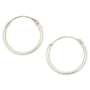 Sterling Silver Chain Hoops,
