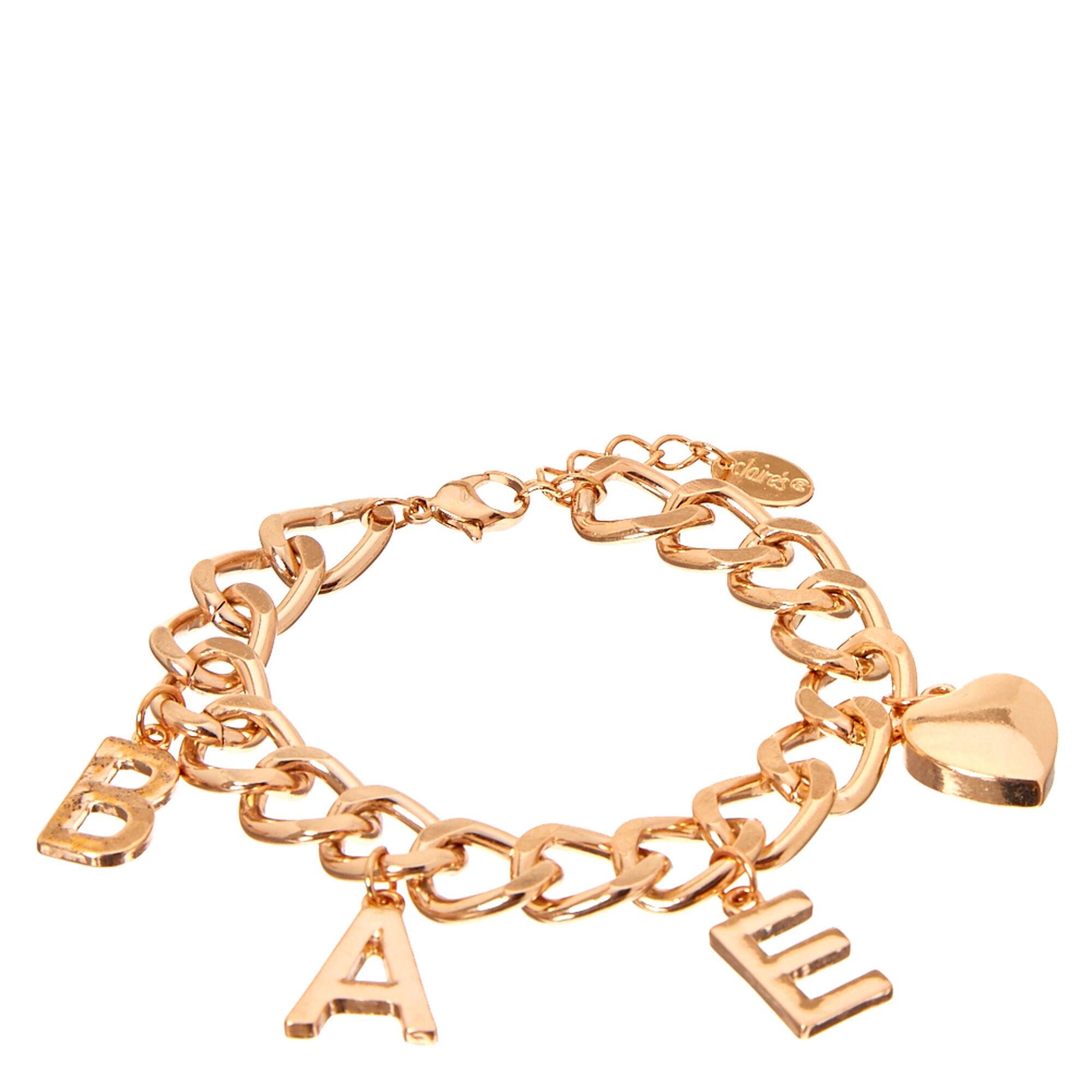 Rose Goldtone Bae Charm Bracelet