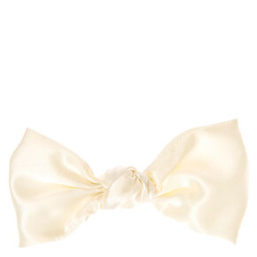 Wild Cream Silk Feel Bow Hair Clip,