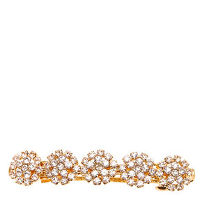 Gold-tone Crystal Flower Hair Clip,