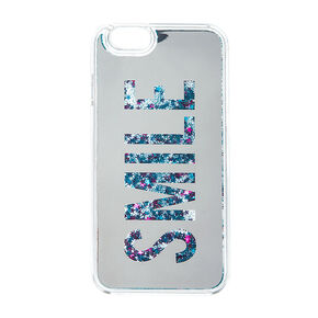 Smile Liquid Fill Glitter Phone Case,