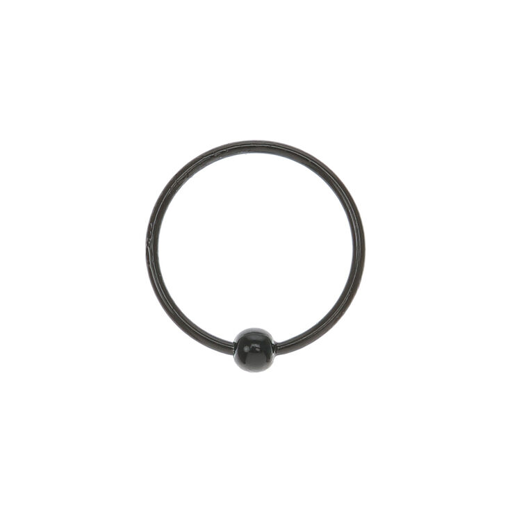 Black Hoop Nose Ring,