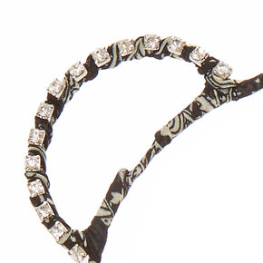 Black Aztec Bear Ears Headband,