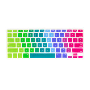 Rainbow Ombre Silicone Keyboard Cover,