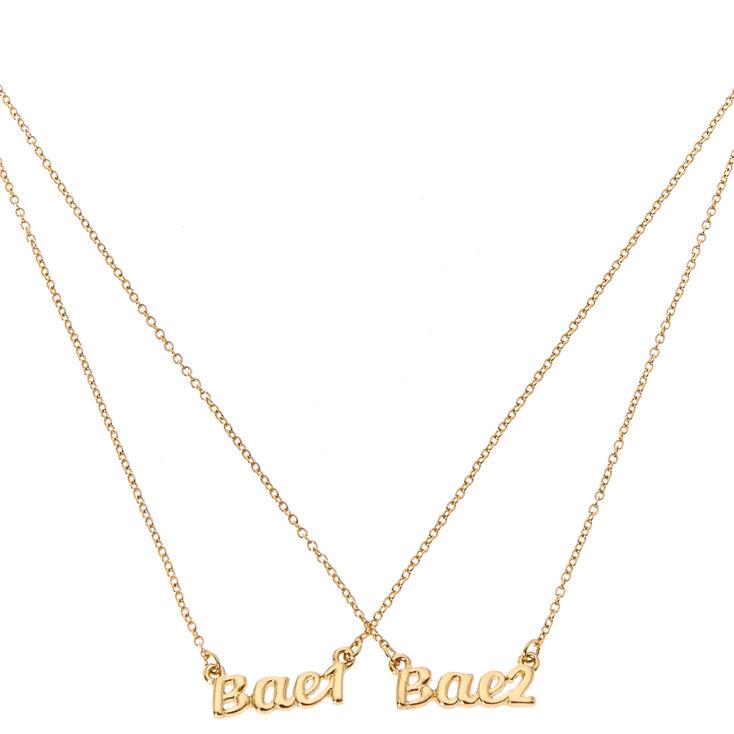 Bae 1 Bae 2 Matching Necklace Set,