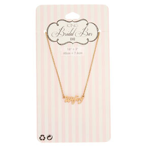 Gold-Tone WIFEY Script Necklace,