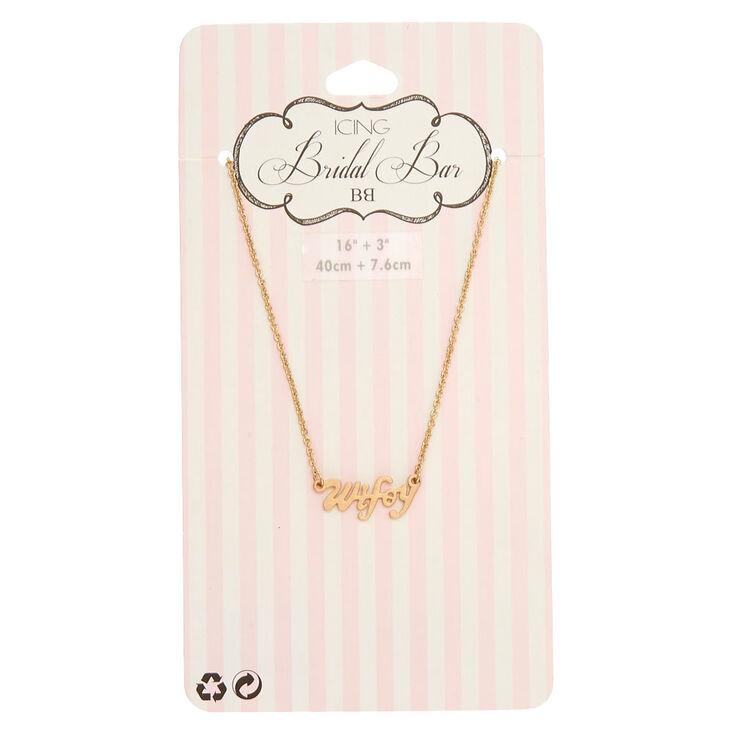 Gold-Tone WIFEY Script Necklace,